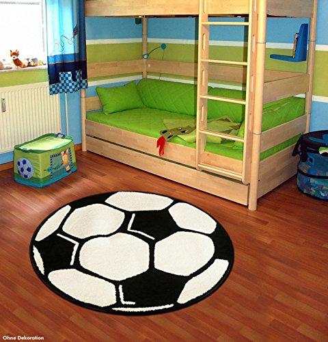 Fußball Teppich Rund Kinderteppich , Durchmesser Rund in cm:200