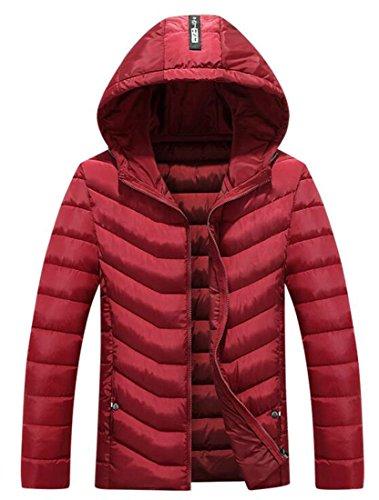 Invernale Cappotto Piumini uk Soffiatore Rosso Calda Brd Mens Cappuccio Con Luce Peso xIRfOwqH