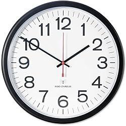 Universal Indoor/Outdoor Clock, 13 1/2-Inch, Black (11381) (3 Clocks)