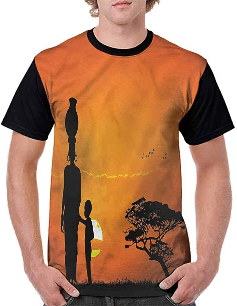 Printed T-Shirt,Child and Mother in Desert Fashion Personality Customization