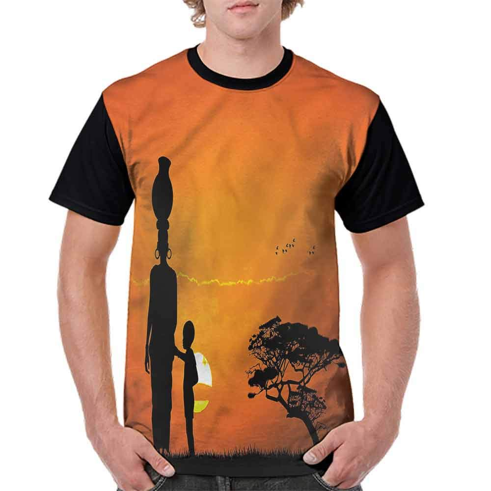 Unisex T-Shirt,Child and Mother in Desert Fashion Personality Customization