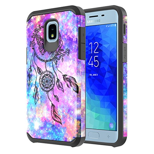 Samsung Galaxy J3 Achieve/J3 Star/J3 V 2nd Gen./J3 2018/Express Prime 3/Sol 3/Amp Prime 3 2018 Case, Onyxii Hybrid Graphic Protective Armor Cover Case for SM-J337 (Dream Catcher)