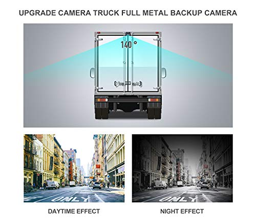 DVKNM Upgrade Backup Camera Monitor Kit,1280X720 HD,IP69 Waterproof Rearview Reversing Rear View Camera 7'' LCD Reversing Monitor Truck/Semi-Trailer/Box Truck/RV - HD Transmission, Four-pin - (TZ101)
