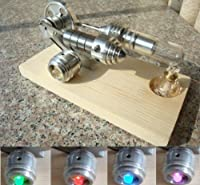Sunnytech®hot Air Stirling Engine Single Flywheel Education Toy Electricity Power Generator M14-03-s