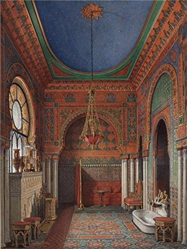 - 'Hau Edward Petrovich,Interiors Of The Winter Palace,The Bathroom Of Empress Alexandra Fyodorovna,1870' Oil Painting, 12x16 Inch / 30x41 Cm ,printed On Perfect Effect Canvas ,this High Resolution Art Decorative Prints On Canvas Is Perfectly Suitalbe For Foyer Decor And Home Gallery Art And Gifts