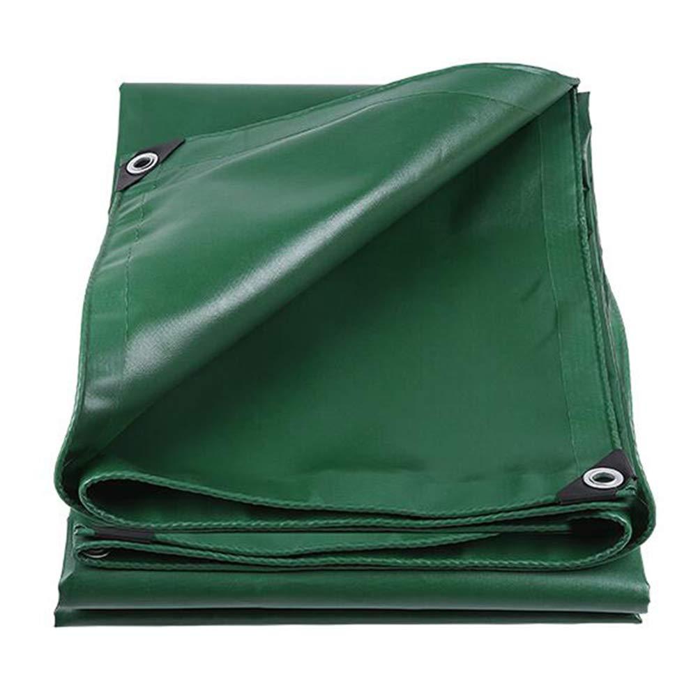 DALL ターポリン 厚い トラック タープ 雨 バイザー 防雨布 キャノピー 防水 日焼け止め (色 : 緑, サイズ さいず : 5×6m) 5×6m 緑 B07KWLV2X6
