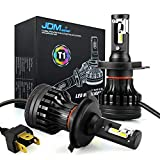 JDM ASTAR Newest Version T1 10000 Lumens Extremely Bright High Power 9003 H4 All-in-One LED Headlight Bulbs Conversion Kit, Xenon White