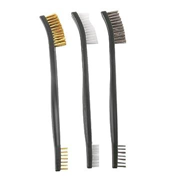 Holzgriff Kleine Messingdrahtbürste Kupferbürste Für Metall Reinigungswerkzeug