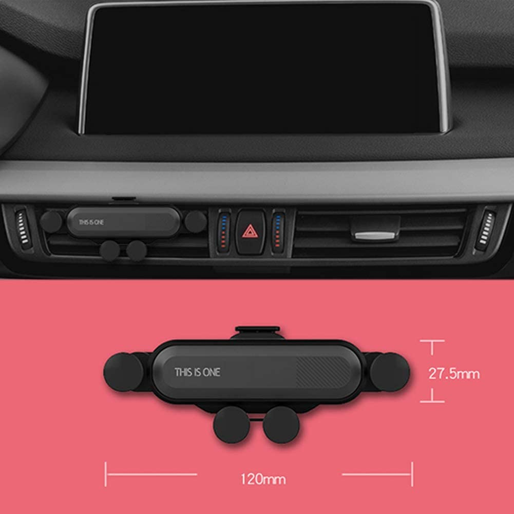 Android Smartphones Universal Car Mount for Phone Minimalism Car Air Vent Phone Holder Compatible for iPhone Samsung