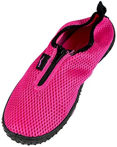 Pink with Zipper SLR Brands Aqua Zapatos Sock Drying Agua de Water Women's Quick Shoes waSwT8Oqx