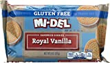 Mi-Del Gluten Free Cookies, Vanilla Sandwich, 8 Ounce (Pack of 12)