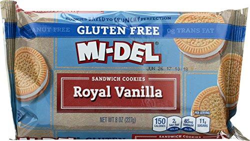 Mi-Del Gluten-Free Royal Vanilla Sandwich Cookies, 8 Ounce Packages (Pack of (Mi Del Gluten Free Cookies)