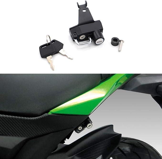 arancia GUAIMI Blocco del casco del motociclo Blocco di sicurezza antifurto in alluminio per Yamaha MT-10 2016-2019