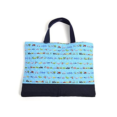 Encyclopedia of vehicle (quilting) World Kids lesson bag of handmade sense (Blue Sky) made in Japan N0226700 (japan import)
