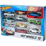 Hot Wheels Pacote 10 Carros Sortidos, Modelo Pode Variar, Mattel, Multicor