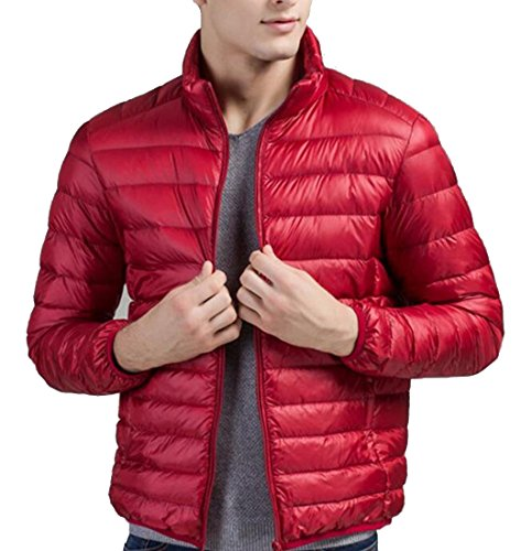 Jacket Men's Coat Red Lightweight Down Puffer amp;S Wine amp;W M Packable 1x80Bwt