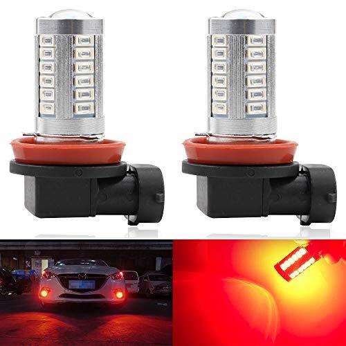 (2pcs SUPER Bright Red H11/H8 LED Bulbs for Fog Lights 5730 33SMD Fog Lamp Driving DRL Lights 12V)