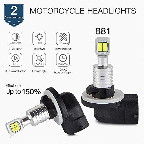 - AjaxStore - 80W 881 Headlight LED Bulbs For Polaris ATV UTV ACE Ranger EV 500 570 Sportsman 850 1000 High Lifter RZR
