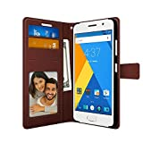 Foso FOSO-PUWCZUKZ1-BROWN High Quality PU Leather Magnetic Flip Cover Wallet Case For Lenovo Zuk Z1,(Royal Brown)