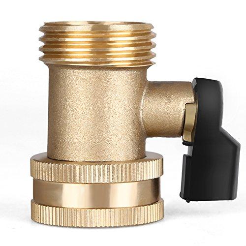 GLORDEN Solid Brass Garden Hose Connector Single Hose Shut-Off Valve (1.75 IN)
