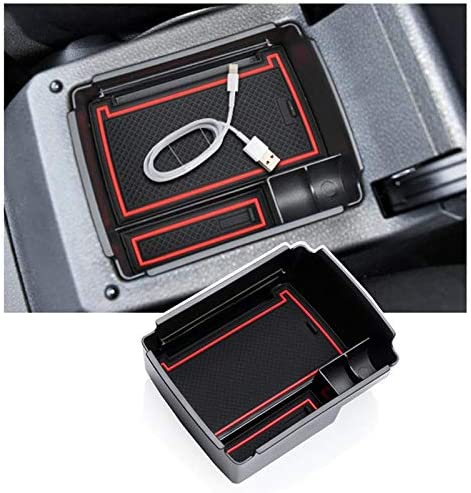 RUIYA voor Golf 7 MK7 20132018 middenconsole opbergdoos armleuning organizer tray dienblad middenarmsteun auto accessoires rood