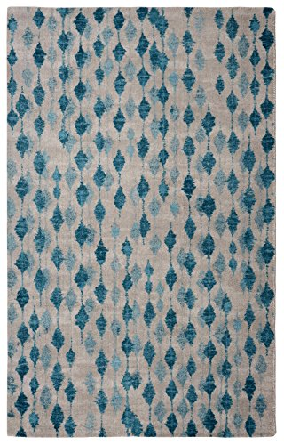 "Rugsmith"" Pendant Modern Area Rug, 5′ x 7′, Blue"