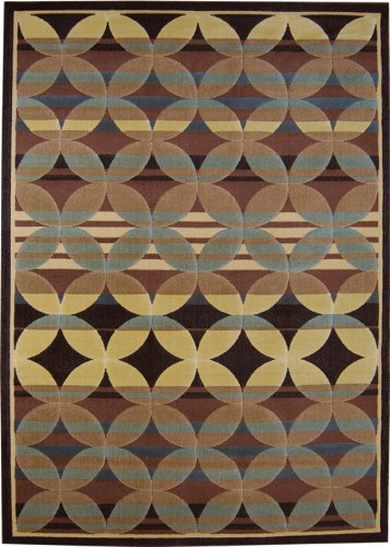 Catalina Brown/Blue Rug Rug Size: 7'10