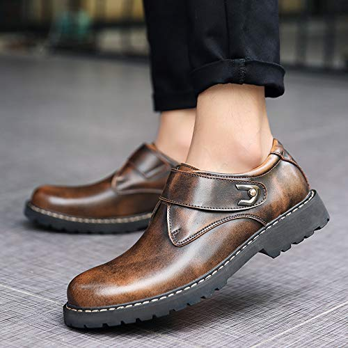 in Casual Versione Coreana Scarpe Pelle Brown Uomo Scarpe Autunno Moda da Uomo Scarpe da ZxCaqw4