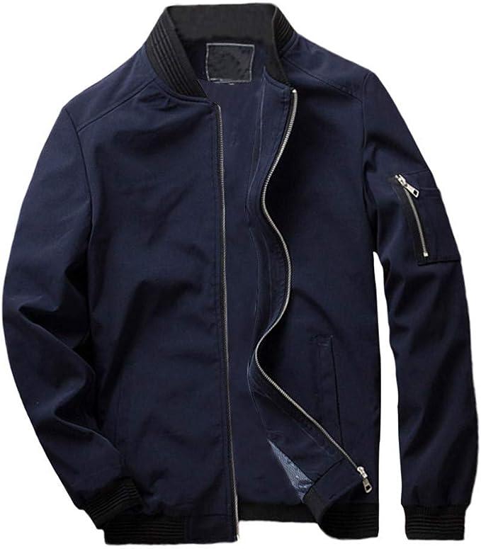 MAYOGO Windbreaker Sweatjacke Männer Herbst Winter Übergangsjacke, Jacke Herren Windjacke Sportlich Modern Freizeit Outwear Jackett,Sweatshirts
