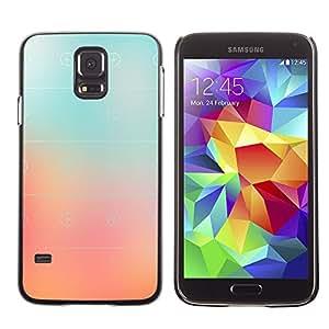 X-ray Impreso colorido protector duro espalda Funda piel de Shell para SAMSUNG Galaxy S5 V / i9600 / SM-G900F / SM-G900M / SM-G900A / SM-G900T / SM-G900W8 - Glass Peach Pink Stripes Color Fog