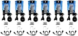 QTY 6 Motorola CLS1410 1 watt 4 channel business radio and Surveillance Headset