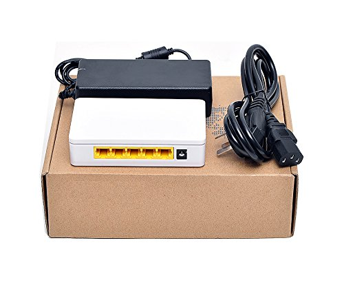 iCreatin 5 Ports 65W Power over Ethernet POE Switch with 4 PoE+1 Uplink,10/100Mbps (4-ports) by iCreatin (Image #3)