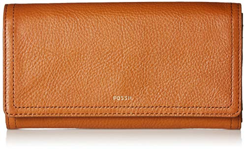 Fossil Logan RFID Flap Clutch Tan