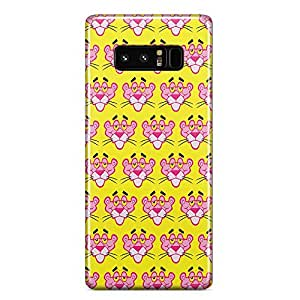 Loud Universe Pink Panther Face Pattern Samsung Note 8 Case Pink Panther Samsung Note 8 Cover with 3d Wrap around Edges