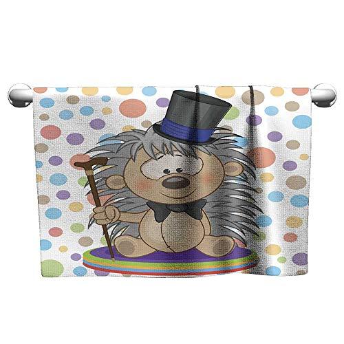 (Tankcsard Style Towel Hedgehog in a hat,Towel Organizer for Bathroom)