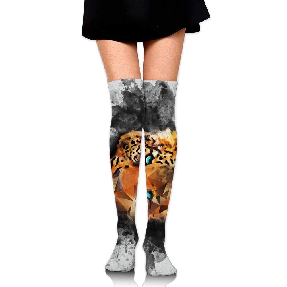 Womens//Girls Painting Art Leopards Casual Socks Yoga Socks Over The Knee High Socks 23.6