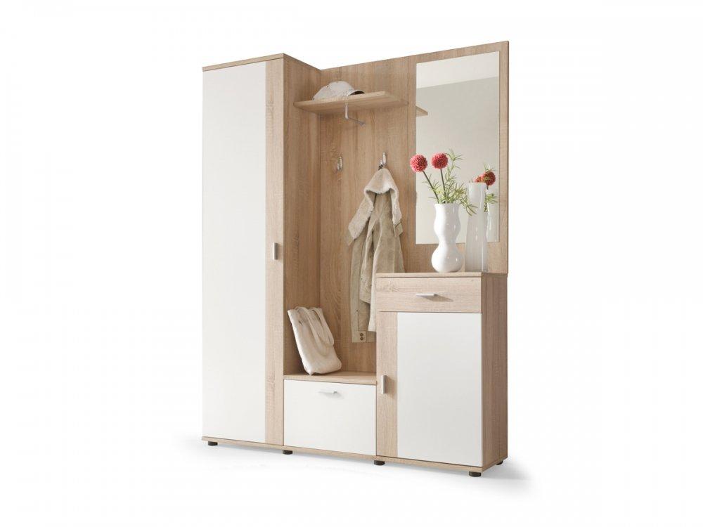 Music - Mueble de recibidor moderno con armario, perchero y ...