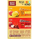 Pressed by Kind Fruit Bars, Cherry Apple Chia, Mango Apple Chia,Variety Pack, 1.2 oz,