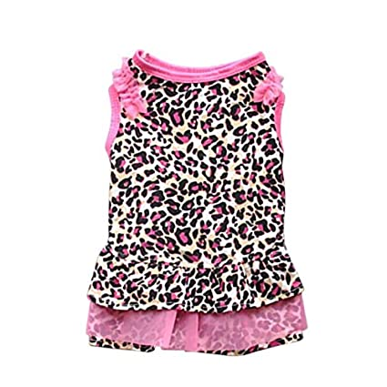 Buy Pinkdose As Picture Shows L Cute Dog Dot Dresses Leopard