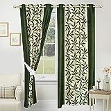 Impeccable Home Kolaveri 2 Piece Eyelet Polyester Window Curtain Set - 5ft, Green