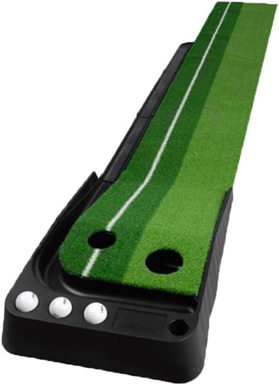 Rui Peng ゴルフヒッティングマット ゴルフパターグリーンパッド、屋内と屋外のポータブルゴルフマットアダルトチルドレンゴルフパッティング練習ブランケット (Color : Have a track, Size : 30x300cm) Have a track 30x300cm