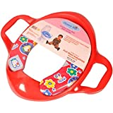 Honey Bee Cushioned Potty Seat, Toilet Seat with Handle (Red)