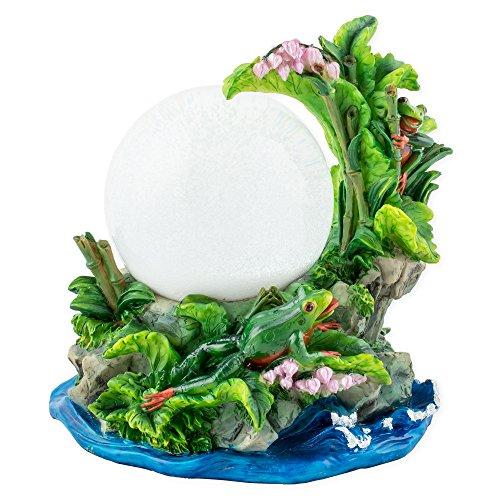 Cadona International, Inc Playful Tree Frogs 100mm Resin 3D Water Globe Plays Tune Beautiful Dreamer