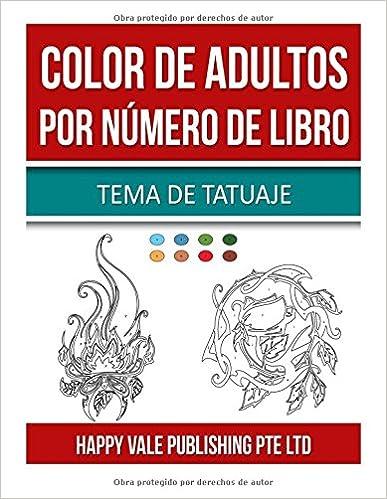 Descargador de libros de Google para Android Color De Adultos Por Número De Libro: Tema De Tatuaje MOBI