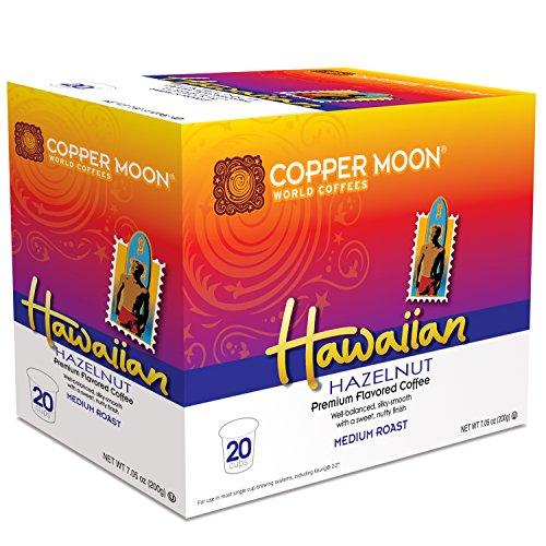 Copper Moon Single Cups For Keurig K Cup Brewers  Hawaiian Hazelnut  20 Count