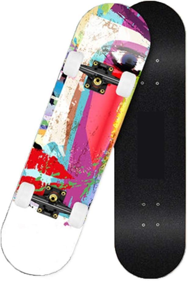 Aixidv スケートボード、ダブルキック子供男の子女の子大人7層メープルウッド初心者プロのテクノロジー31インチ aixidv (Size : XL)  X-Large