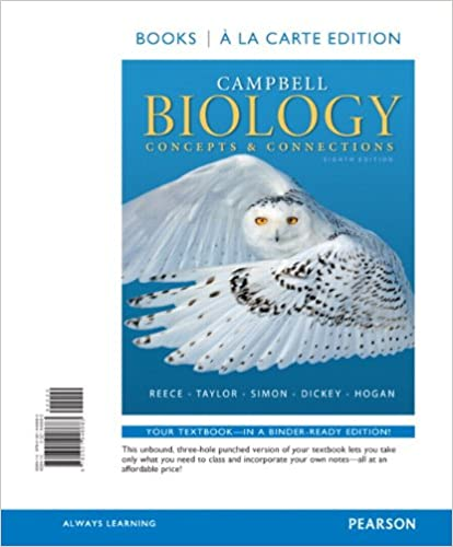 Amazon campbell biology concepts connections books a la amazon campbell biology concepts connections books a la carte edition 8th edition 9780321946683 jane b reece martha r taylor eric j simon fandeluxe Choice Image