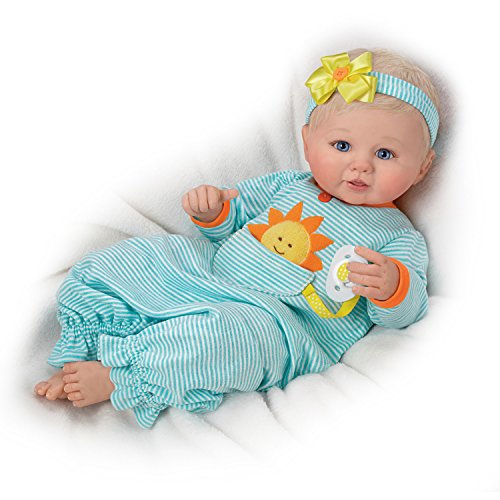 Violet Parker So Truly Real Pocket Full Of Sunshine Baby Doll With Pacifier by The Ashton-Drake Galleries
