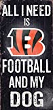 Fan Creations Cincinnati Bengals Football and My Dog Sign, Multicolored