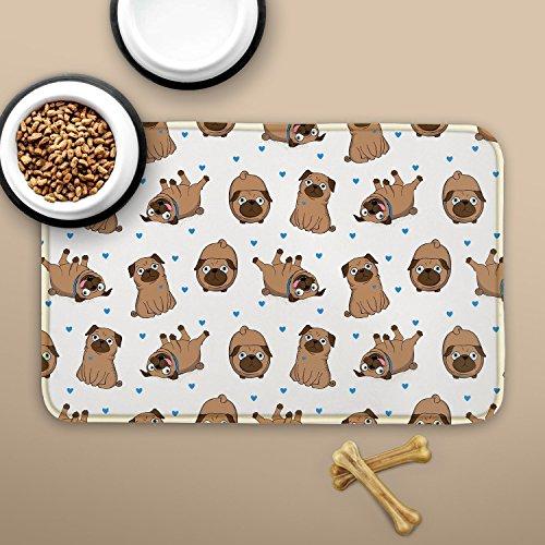 Pug Placemats Dog Mat Door Mat Dog Clipart Entrance Mat Custom Doormat Welcome Rug Pet Placemat Cat Funny Dog Doormat Personalized ZZ8120 (Pet Clipart)